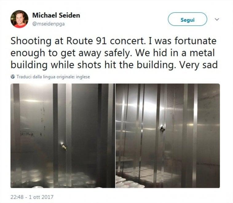 Strage Las Vegas, nascosti nel box delle birre: i proiettili conficcati nelle pareti