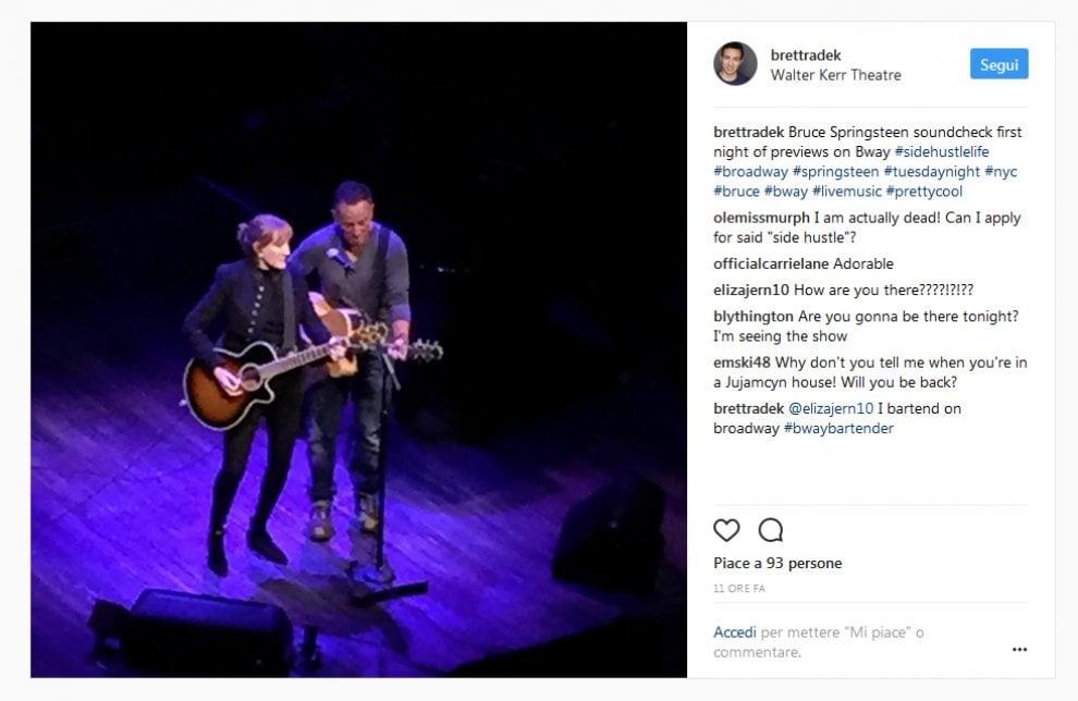 Springsteen debutta a Broadway: parole e rock attraverso 40 anni di storia