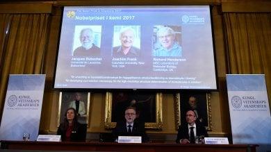 A Dubochet, Frank e Henderson il Nobel per la Chimica 2017