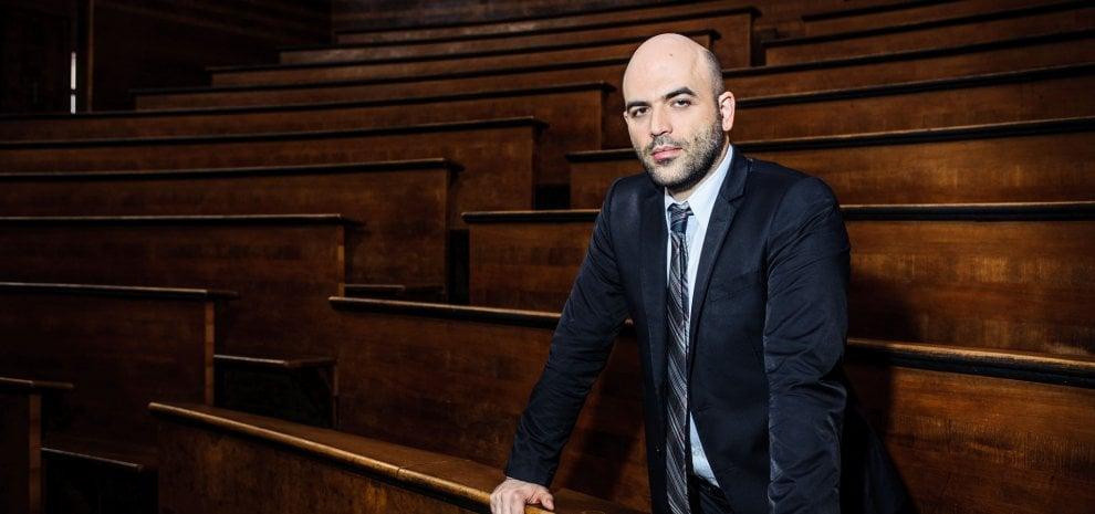 """Saviano in cattedra: """"Per capire il crimine scopriamo i criminali"""""""