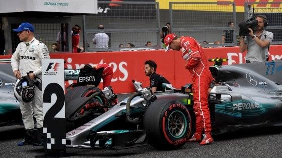 F1, Gp Giappone: Hamilton domina, pole numero 71. Vettel in prima fila