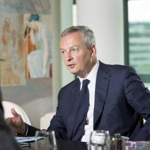 """Bruno Le Maire: """"Parigi fa riforme ambiziose, l'Ue dica addio ai tecnocrati, su Fincantieri-Stx vigileremo"""""""