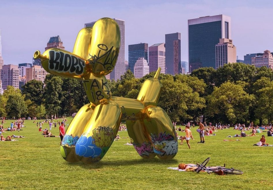 Snapchat Art, vandalizzata l'opera d'arte in realtà aumentata di Jeff Koons