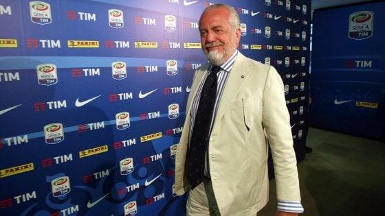 """Napoli, De Laurentiis: """"Siamo noi l'anti-Juve. Sarri? Non lo cambierei con Guardiola"""""""