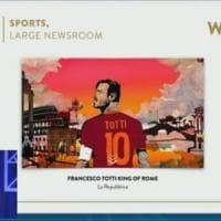 Oscar del giornalismo online, Totti ringrazia Repubblica: