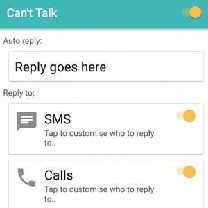 Can't Talk, l'app che risponde per te a WhatsApp
