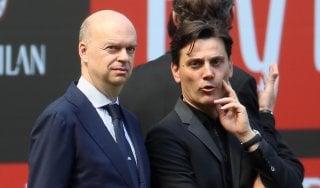 """Milan, Montella: """"Sento la fiducia della società. Champions? Deve essere un'ossessione"""""""
