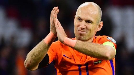 """Olanda, Robben annuncia il ritiro: """"L'uomo di cristallo lascia la nazionale"""""""