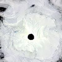 Antartide, la polynya del mare di Weddell dal satellite