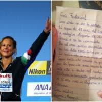 Quando una lettera vale come una medaglia: l'ammiratore emoziona Federica Pellegrini