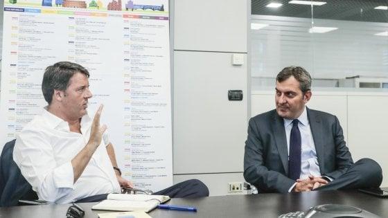 """Renzi: """"Se perde il Pd salta il sistema. Coalizione ma senza primarie. Il candidato premier sono io"""""""