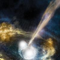 La fusione delle stelle che genera raggi gamma e oro