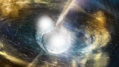 """L'oro dallo scontro di due stelle di neutroni: hanno visto la prima """"miniera""""dello spazio"""