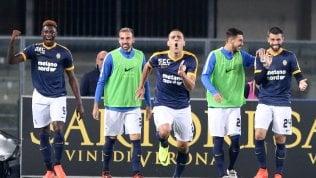 Prima vittoria del Verona.Il Benevento resta a quota 0