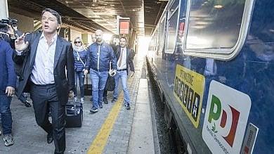 """Pd, parte """"Destinazione Italia""""   video   Matteo Renzi inizia il suo tour in treno"""