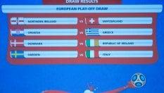 Spareggio Mondiale, l'Italia pesca la Svezia (ma senza Ibrahimovic)