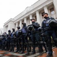 Kiev, scontri alla manifestazione organizzata da Saakashvili