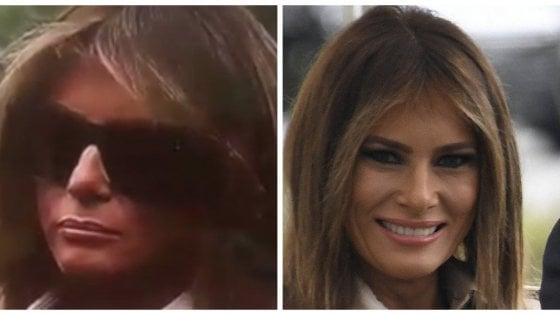 """""""Non è Melania"""". Una controfigura per la first lady?"""