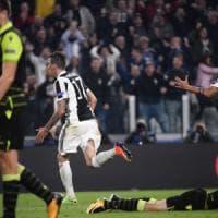 Juventus-Sporting 2-1, il volo di Mandzukic vale i tre punti