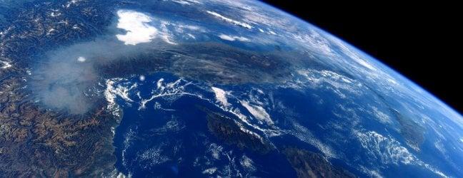 Lo smog sulla pianura padana dalla Stazione Spaziale Internazionale