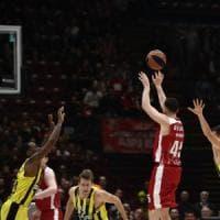 Basket Eurolega, Milano ko a testa alta: sconfitta col Fenerbahce al supplementare