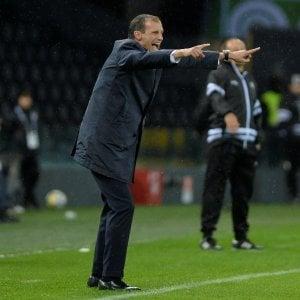 """Juventus, Allegri: """"Ci voleva vincere così, stiamo crescendo fisicamente"""""""