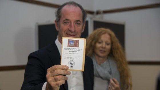 Referendum autonomia, ride solo Zaia. Rischio boomerang per Maroni