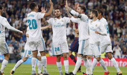 Spagna, tris del Real all'Eibar: i Blancos si riprendono il terzo posto
