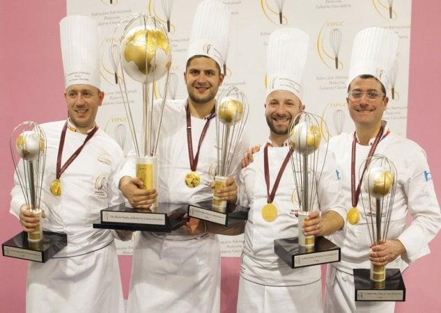 Sul tetto del mondo tra cioccolato e caffè: l'Italia vince i Campionati di pasticceria 2017