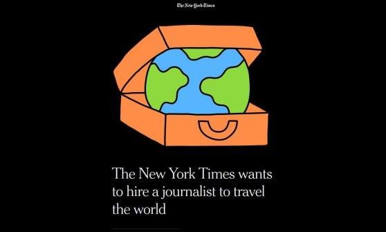 Il New York Times cerca un giornalista che viaggi per un anno in giro per il mondo