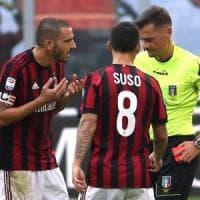 Milan, due turni di squalifica per Bonucci. Ed è lite col mental coach