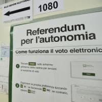 Referendum, Zaia chiede lo statuto speciale. Il Governo: