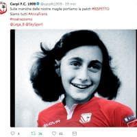 #SiamoTuttiAnnaFrank, su Twitter la campagna contro l'antisemitismo