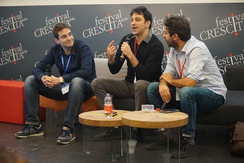 Leonardo Falanga, Annibale D'Elia e Massimo Temporelli al Festival della  Crescita di Milano. Dialoghi su téchne: l'arte di innovare