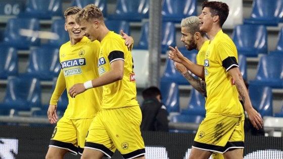 Le probabili formazioni di Sassuolo-Udinese: Riconfermato Perica, dal 1′ anche Matri