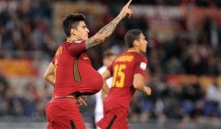 Roma-Crotone 1-0: Perotti su rigore tiene in scia i giallorossi
