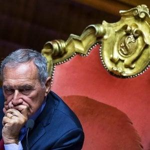 """Senato, il presidente Pietro Grasso lascia gruppo Pd. Zanda: """"Dissenso su linea del partito"""""""