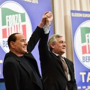 """Tajani: """"Il candidato premier è Berlusconi, la sentenza di Strasburgo arriverà in tempo"""""""