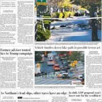 Attentato a New York, la notizia sulle prime pagine dei quotidiani internazionali