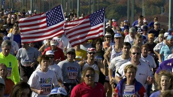 """A New York la maratona contro la paura: """"United we run"""" come quel giorno del 2001"""