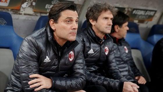 Sassuolo-Milan: Montella si gioca la panchina