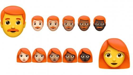 Emoji, l'anno prossimo arrivano quelle coi capelli rossi