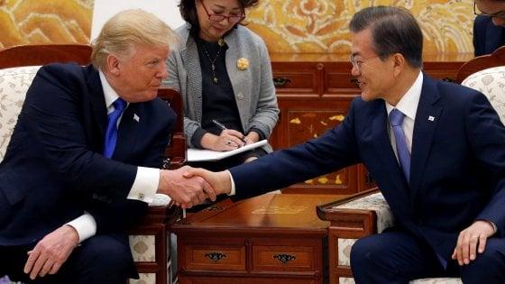 Corea del Nord, Trump in visita a Seul:
