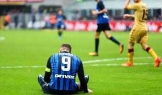 Inter, nessuna lesione per Icardi: con l'Atalanta ci sarà