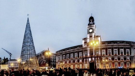 Aspettando il Capodanno,  in piazza a Madrid