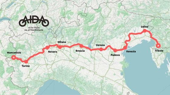 Dal Moncenisio a Trieste. In bici su Aida l'Italia scorrerà piano