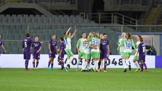 Champions donne, Wolfsburg troppo forte: Fiorentina cede 0-4