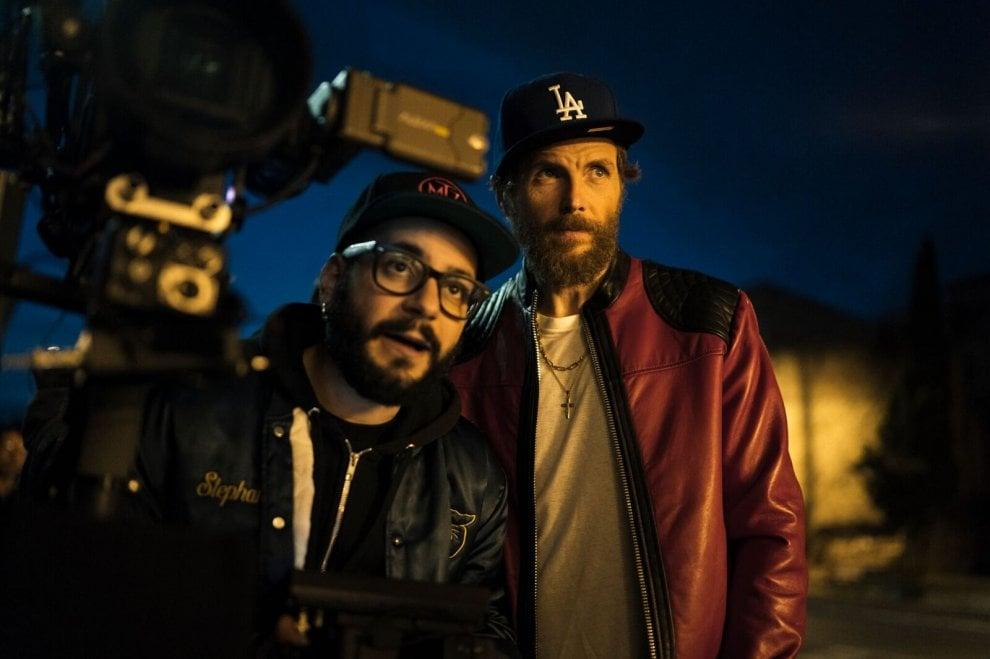 Jovanotti sul set del nuovo videoclip 'Oh, vita!'