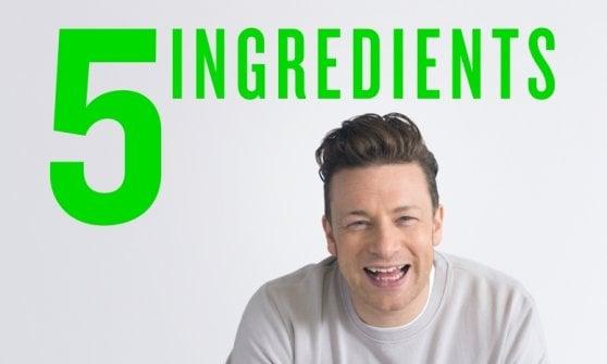 Per divertirsi a tavola bastano 5 ingredienti. Parola di Jamie Oliver
