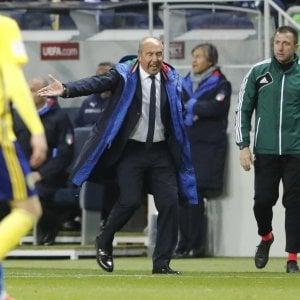 """Nazionale, Ventura: """"L'arbitro ha favorito la Svezia. Ora San Siro ci dia una mano"""""""